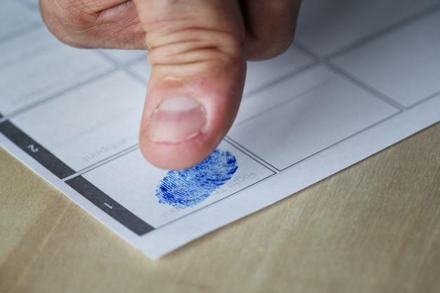 отпечатки пальцев для банка