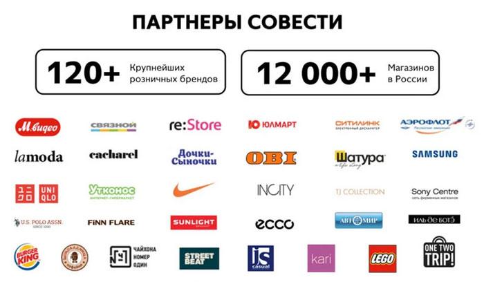 Магазины и партнеры карты рассрочки Совесть (1)